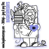 Cute Santa Image awesome for Christmas! Images, Digi stamps, clip art, coloring pages and illustrations from Bugaboo Stamps