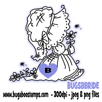 A cute sunbonnet image. Digi stamps, clip art, illustrations from Bugaboo Stamps