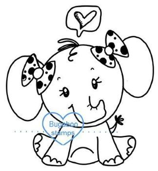 Digi Singles,BUGSCE01 simple cute elephant 01,Bugaboo Stamps,