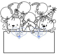 Digi Singles,BUGSIBDAYCRITTERS sign it birthday critters,Bugaboo Stamps,