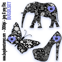 silhouettes, images, Digi stamps, clip art, illustrations from Bugaboo Stamps
