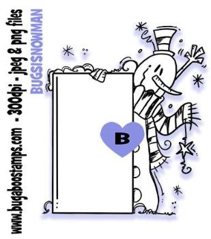 Sign it Snowman Digi Stamp. Add any text you want!  Images, Digi stamps, clip art, coloring pages and illustrations from Bugaboo Stamps