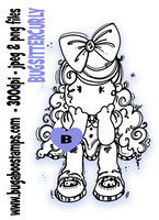 cute brat sitter digi stamps, clip art, illustrations from Bugaboo