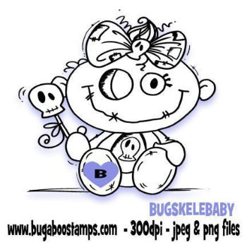 Skelekinz Cute Goth Baby Digi Stamp Images, Digi stamps, clip art, coloring pages and illustrations from Bugaboo Stamps
