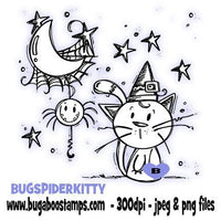 Digi Stamps,Halloween Spider Kitty,Bugaboo Stamps,