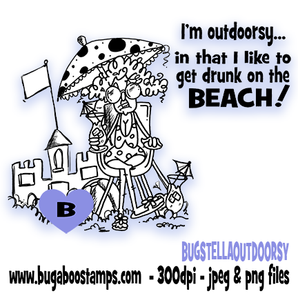 A funny stella digi stamp, clip art, illustration from Bugaboo