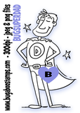 Super Dad image, Digi stamps, clip art, illustrations from Bugaboo Stamps