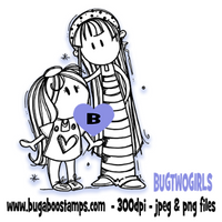 Digi Singles,BUGTWOGIRLS Two girls,Bugaboo Stamps,