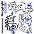 cute unicorn Digi stamps, clip art, illustrations from Bugaboo Stamps
