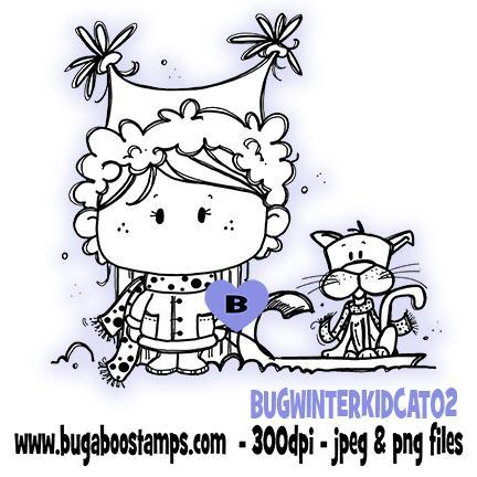 Digi stamps-cute winter kidz with cat-www.bugaboostamps.com