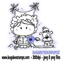 Digi stamps Winter Kidz with puppy image-www.bugaboostamps.com