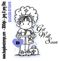 Get well nurse digi stamp, clip art, illustration from Bugaboo
