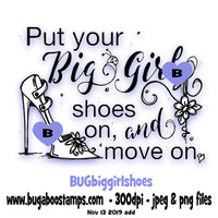 Big Girl Shoes Word Art