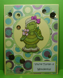 Girl Turtle Digi Stamp