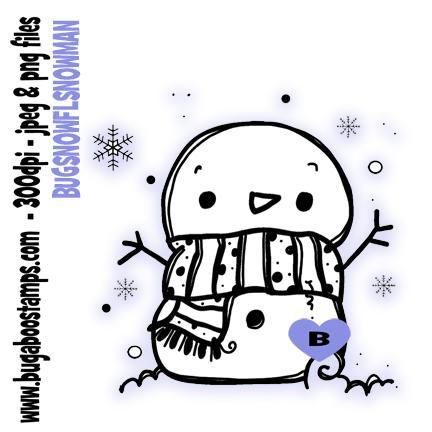 digi stamps,snowflake snowman,bugaboo stamps