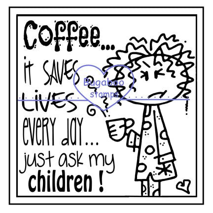 Digi Singles, Frame it - coffee saves lives,Bugaboo Stamps,