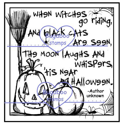 Digi stamps,Halloween poem,Bugaboo Stamps,