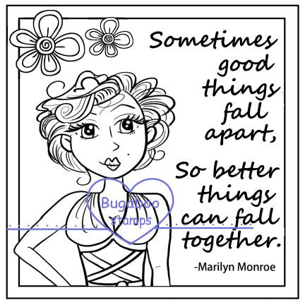 Word art/ Sentiments,Digi Singles,Frame it Marilyn quote,Bugaboo Stamps,