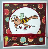Bee Bear Heart string Digi Stamp