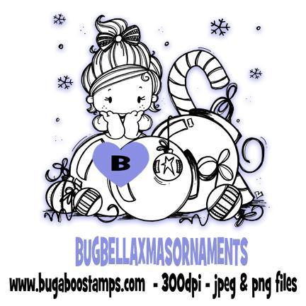 digi stamps and clip art kids bella christmas ornaments image set Bugaboo Stamps