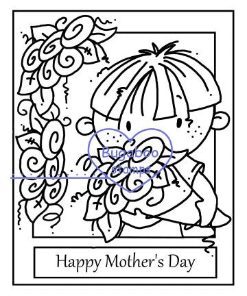 digi stamps,clipart,kidz Mothers Day Boy,Bugaboo Stamps