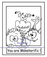 Digi stamps,Make it snappy Monsterific,Bugaboo Stamps,