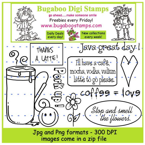 Digi Sets,Digi Singles,Mini Set - coffee mug,Bugaboo Stamps,