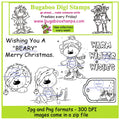 Digi Singles,Digi Sets,Mini Set - winter bears,Bugaboo Stamps,