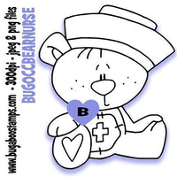 Occupation bear nurse Bugaboo Digi Stamps clipart and Illustrations