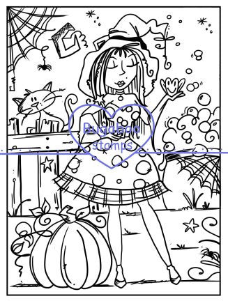 Digi Stamps,SI Halloween Witch,Bugaboo Stamps,