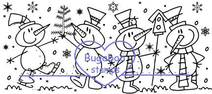 Digi Singles,Scene it - Snowmen fun,Bugaboo Stamps,