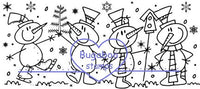 Digi Singles, Scene it - Snowmen fun,Bugaboo Stamps,