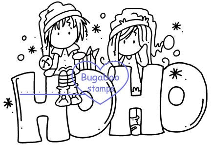 Digi stamps/word art, Ava and Deacon HoHo,Bugaboo Stamps,