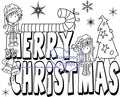 Digi stamps/word art,Ava and Deacon Merry Christmas,Bugaboo Stamps,