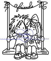 Digi stamps, Ava and Deacon Friends swing,Bugaboo Stamps,