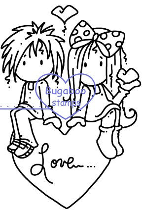 Digi stamps, Ava and Deacon Heart,Bugaboo Stamps,