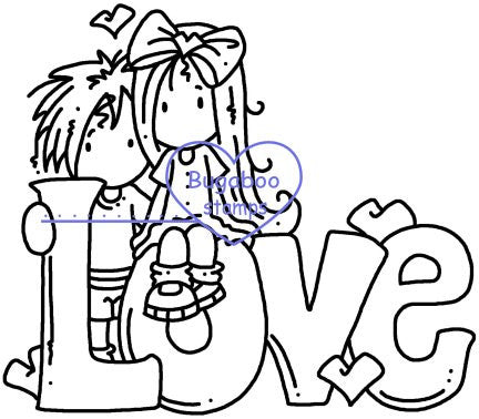 Digi stamps/word art,Ava and Deacon Love Word,Bugaboo Stamps,