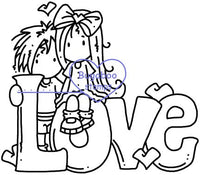 Digi stamps/word art, Ava and Deacon Love Word,Bugaboo Stamps,