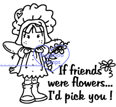Angel Friends were Flowers digi stamps and image.www.bugaboostamps.com