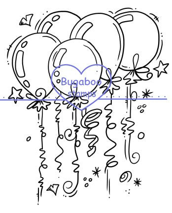 Digi stamps,clipart,illustrations,Balloon bundle,Bugaboo Stamps,