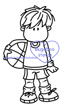 Digi stamps,Bugaboo Brat Sports - Basketball Boy,Bugaboo Stamps,