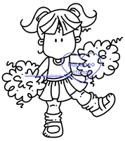Digi stamps,Bugaboo Brat Sports - Cheerleader Girl,Bugaboo Stamps,