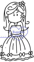 Brats Pretty Dress digi stamps and image.www.bugaboostamps.com