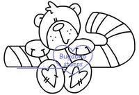 Digi stamps,Candy Cane Bear,Bugaboo Stamps,