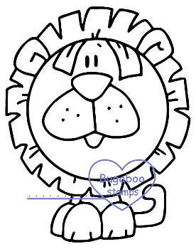 digi stamps,Zoo Bobblehead Lion,Bugaboo Stamps,