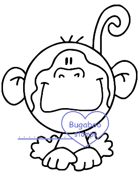 digi stamps,Zoo Bobblehead Monkey,Bugaboo Stamps,