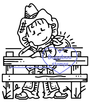 Digi stamps,Bugaboo Cowboy Fence,Bugaboo Stamps,