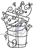 Digi stamps,Birthday Monster  - present,Bugaboo Stamps,