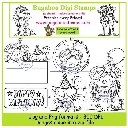 Digi stamps,Kidz clown set,Bugaboo Stamps,