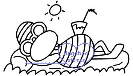Digi stamps,beach duck,Bugaboo Stamps,